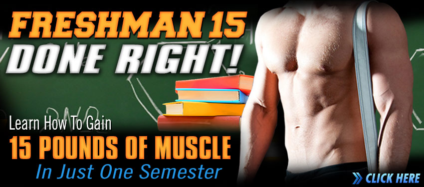 Learn how to gain 15 pounds of muscle in just 1 semester