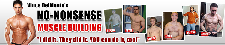 Vince DelMonte Fitness - Build Muscle - Gain Weight - 12 Bonuses + Save 35%