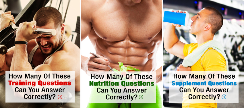 How many of these training, nutrition and supplement questions can you answer correctly?