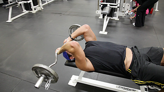 barbell-tricep