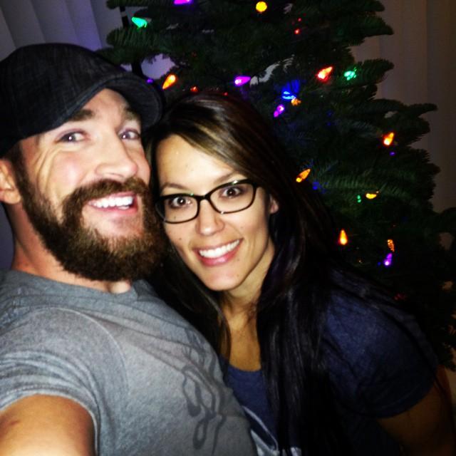 Renee and I on Christmas